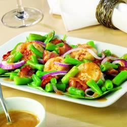 Scallop, Green Bean and Spinach Salad