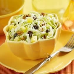 Marzetti(R) Hawaiian Slaw Recipe - This tropical delight features pineapples, raisins, and flaked coconut. Close your eyes and you can hear the wind rustling through the palms.