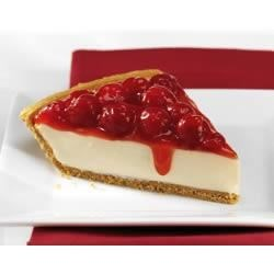 Cherry Cheese Pie Recipe - Cherry pie filling tops a chilled, creamy cheesecake.