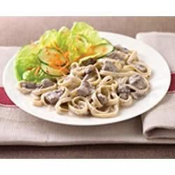 PHILLY Slow-Cooker Beef Stroganoff Recipe - A slow-cooker can be a life saver on a busy day.  Simply toss slow-cooked beef and veggies with cream cheese and cooked fettuccine and dinner's on the table.