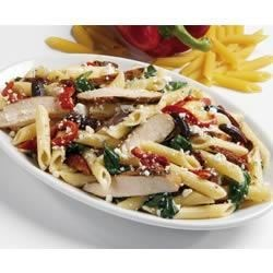 Marzetti(R) Italian Penne Pasta Salad Recipe - Wonderful Italian ingredients--penne pasta, olives, oregano, sundried tomatoes and roasted sweet peppers-are tossed in Marzetti(R) Asiago Peppercorn Dressing.