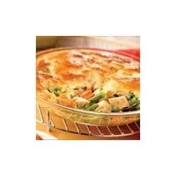 Campbell's Kitchen Easy Chicken Pot Pie Recipe - Chicken and vegetables are paired in a creamy sauce and topped with a golden biscuit crust.