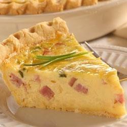 Ham And Swiss Quiche