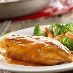 Sweet and Tangy Chicken Recipe - In just 20 minutes, you can  make this one-skillet chicken dish lets you enjoy good home cooking any time.