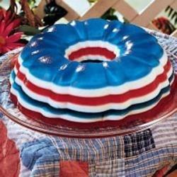 Patriotic Gelatin Salad