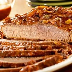 Slow-Cooked Carolina Beef Brisket Recipe - Good things are worth the wait! This flavor-packed brisket slow cooks all day so you come home to a fork-tender dish with just the right amount of spice!