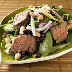 Lemon-Dressed Steak and Spinach Salad