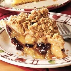 Cranberry-Apple Streusel Pie Recipe - Pair another fruit pie filling with the cranberry. Instead of apple, you may want to try peach, cherry or blueberry. Whatever combo you choose, this pie is irresistible with a scoop of vanilla ice cream.