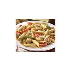 Campbell's Kitchen Penne with Sausage and Peppers Recipe - No need to worry about making a sauce when you can shine using this prepared gravy.