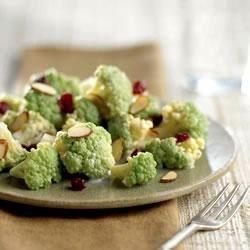 Broccoflower®, Cranberry and Almond Salad