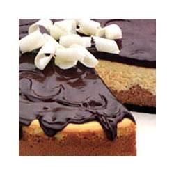 Triple Chocolate and Vanilla Cheesecake