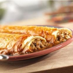 Campbell's Kitchen Easy Beef Enchiladas Recipe - These flavorful enchiladas make a simple, delicious and filling supper!