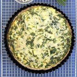 Asparagus, Shallot and Spinach Torte