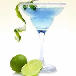 Sauza(R) Southwest Margarita Recipe - A beautiful blue margarita with the tangy flavors of orange and lime is perfect for sipping on a warm summer day or night, thinking of a cool blue ocean.