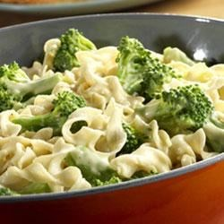 Broccoli and Noodles Supreme Recipe - Broccoli, egg noodles, sour cream, onion, Parmesan cheese and a creamy chicken sauce make an irresistible marriage.