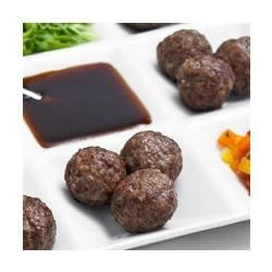 Teriyaki Meatball Appetizers Recipe - Kikkoman Teriyaki Marinade & Sauce gives these easy meatballs a delectable flavor.