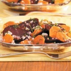 Minty Beet Carrot Salad