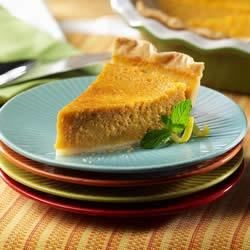 Sweet Potato Pie from the LACTAID(R) Brand Recipe - This satiny sweet potato pie seasoned with nutmeg, cinnamon, and vanilla flavors are guaranteed to win applause from guests at Thanksgiving or any special occasion.