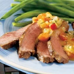 Steak with Chipotle Cheese Sauce