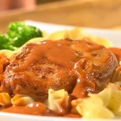 Pork Chops Paprikash Recipe - These richly flavored pork-chops are made in just one skillet, they're ready in 30 minutes, and they're absolutely yummy!