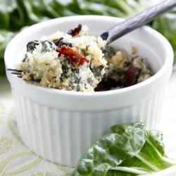 RWOP Finalist: Swiss Chard au Gratin Recipe - From Real Women of Philadelphia 2010 Finalist Jacqui Nicholson: Bacon and garlic takes already flavorful Swiss Chard to the next level in this dish. It adds a richness and elegance to any meal and is perfect with chicken or pork.