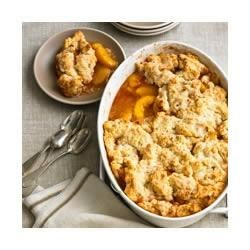 Fresh Peach Cobbler Recipe - Nothing brings out the flavor of fresh peaches better than a fruit cobbler, and this one bakes up in 30 minutes.