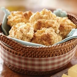 Sugar-Crusted Sweet Potato Biscuits Recipe - Drop biscuits are sweetened with mashed sweet potato and a bit of brown sugar with an extra sprinkle on top for a pretty sugar coating.