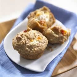 Healthy Oat Peaches and Cream Muffins
