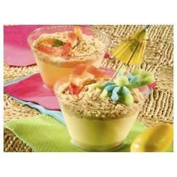 NILLA(R) Sand Cups Recipe - Decorated with different shaped chewy fruit snacks, these fun after-school pudding snacks look like little beach scenes. The kids will love to help!