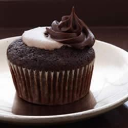 Triple Chocolate Cream Filled Cupcakes