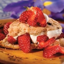 Chocolate Chip Strawberry Shortcake Recipe - The shortcake is loaded with chocolate chips making these strawberry shortcakes with fresh whipped cream an extra special summer treat.
