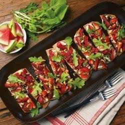 Strawberry-Balsamic Ricotta Bruschetta