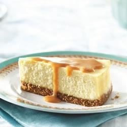 Philadelphia(R) Dulce de Leche Cheesecake Recipe - The creamy, cheesecake filling is sweetened with rich dulce de leche, and drizzled with more before serving.