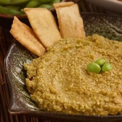 Asian Edamame and Wholly Guacamole(R) Dip Recipe - A classic Asian dip with a new twist.
