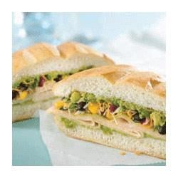Mexican Turkey Torta Recipe - This low calorie sandwich makes your taste buds and your waistline happy.