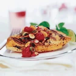 Chicken with Almond and Berry Relish