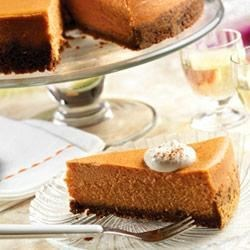 Ginger Spice Cheesecake Recipe - Cinnamon, nutmeg and a 'secret ingredient' make this mouth-watering cheesecake anything but ordinary. Cool and creamy with just the right amount of spice...it's absolutely irresistible!