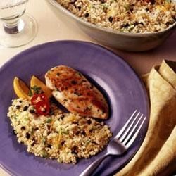 Spicy Couscous with Orange Zest and Scallions