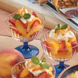 Strawberry Peach Cups