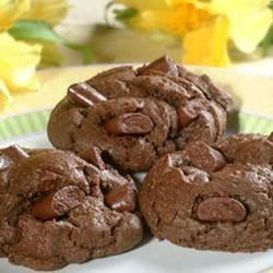 Double Chocolate Chunk Cookies Recipe - A cookie for chocolate lovers, with big chunks of chocolate in a chocolate cookie.