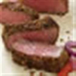 French Onion, Pepper and Herb Crusted Steak