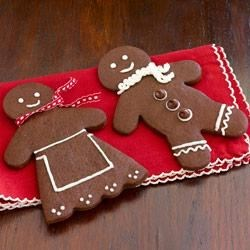 Chocolate Gingerbread Men Recipe - Spicy chocolate gingerbread men will make your cookie tray stand out this year, and they make great gifts, too.