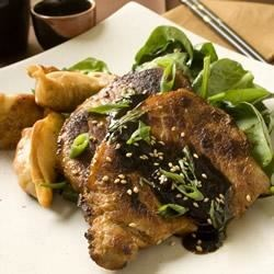 Pork Chops with Soy-Ginger Sauce