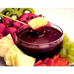 EAGLE BRAND(R) Chocolate Fondue Recipe - Chocolate Fondue is elegant and yet so easy to make. Don't just save this dessert idea for special gatherings . . . enjoy it every day with your family. Kids will enjoy dipping fruits and cookies into this chocolate treat for an after school snack!