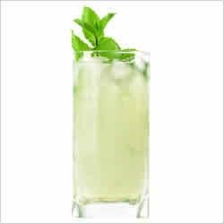 7UP Winter Mint Sherbet Punch Recipe - Greet your guests with a festive punch made with lime sherbet, mojito mix, and the sparkle of 7UP.