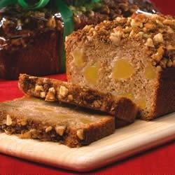 Apple Streusel Bread Recipe - Apple pie filling and apple sauce make preparing this delicious, moist loaf of breakfast bread a snap!