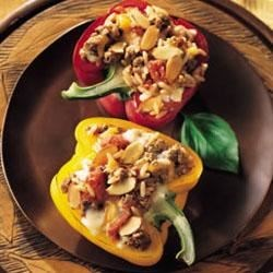 Moroccan Stuffed Bell Peppers
