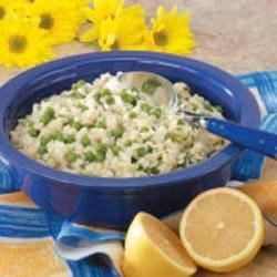 MInty Orzo and Peas