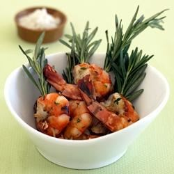 Grilled Rosemary Shrimp Skewers with Sea Salt