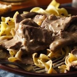 Easy Weeknight Beef Stroganoff Recipe - Try this easy version of a fabulous dish ready in minutes!